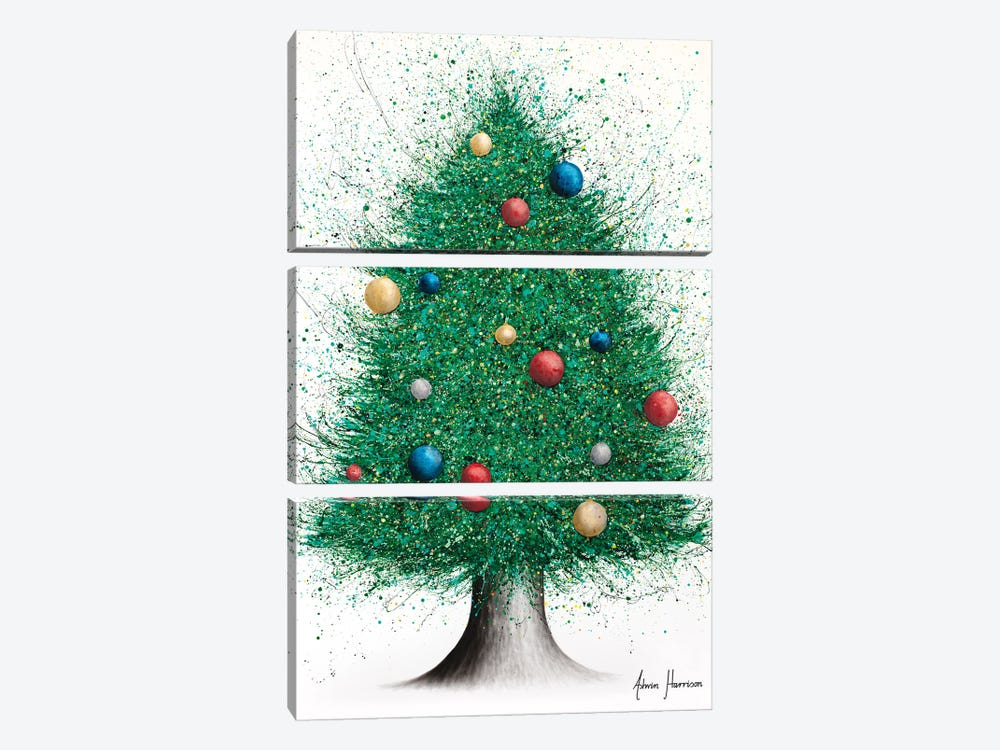 Christmas Tree by Ashvin Harrison 3-piece Canvas Print