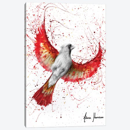 Golden Feather Cardinal Canvas Print #VIN708} by Ashvin Harrison Canvas Art