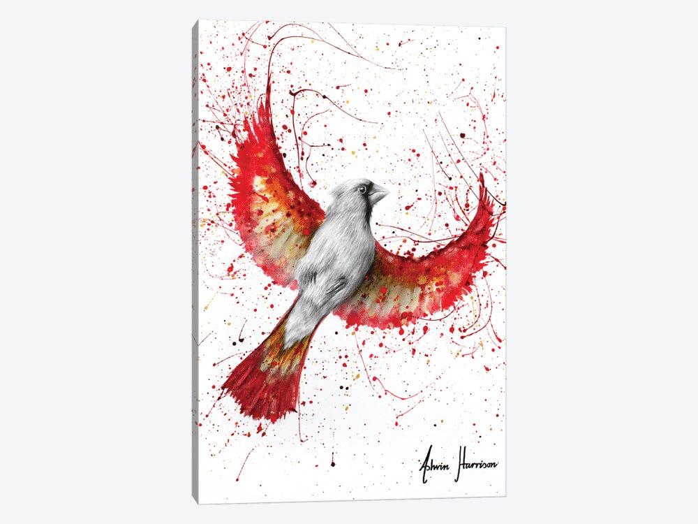 Golden Feather Cardinal by Ashvin Harrison 1-piece Canvas Print