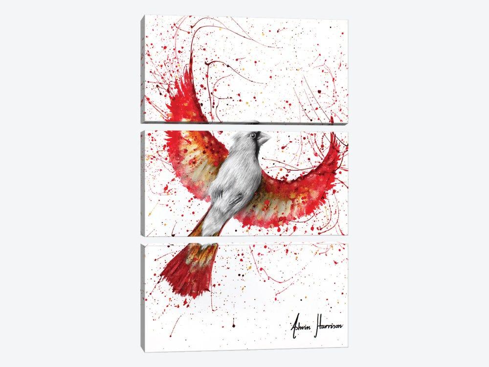 Golden Feather Cardinal by Ashvin Harrison 3-piece Art Print