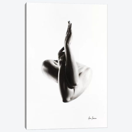 Nude Woman Charcoal Study 47 Canvas Print #VIN70} by Ashvin Harrison Canvas Artwork