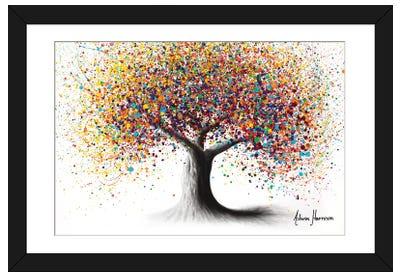 Rainbow Soul Tree Framed Art Print