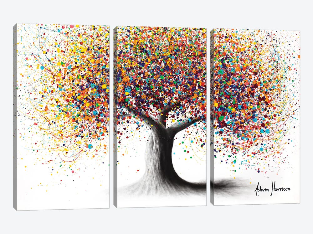 Rainbow Soul Tree by Ashvin Harrison 3-piece Canvas Art