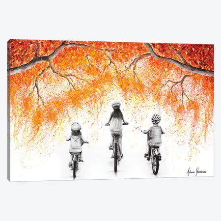 The Autumn Ride Canvas Print #VIN716} by Ashvin Harrison Canvas Artwork