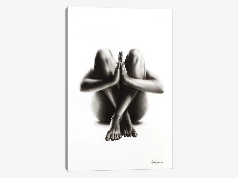 Nude Woman Charcoal Study 48 by Ashvin Harrison 1-piece Canvas Art Print