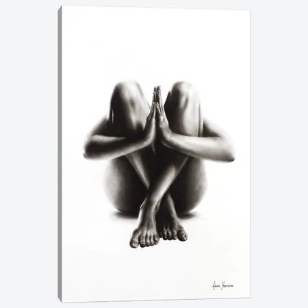 Nude Woman Charcoal Study 48 Canvas Print #VIN71} by Ashvin Harrison Canvas Art