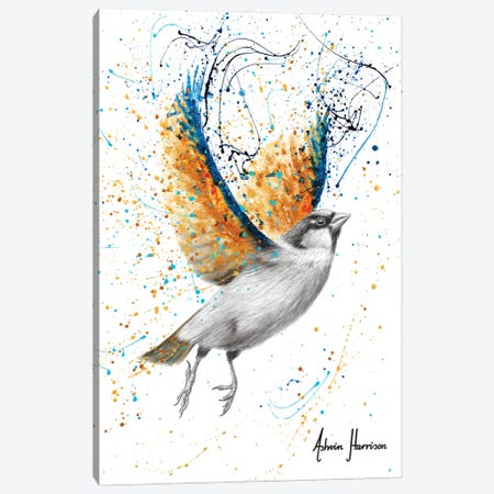 Golden Prosperity Bird Canvas Print #VIN723} by Ashvin Harrison Canvas Wall Art