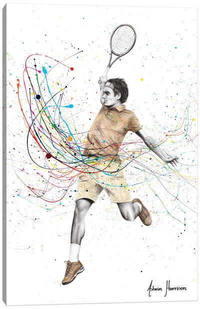 A Champion Swing Canvas Art Print