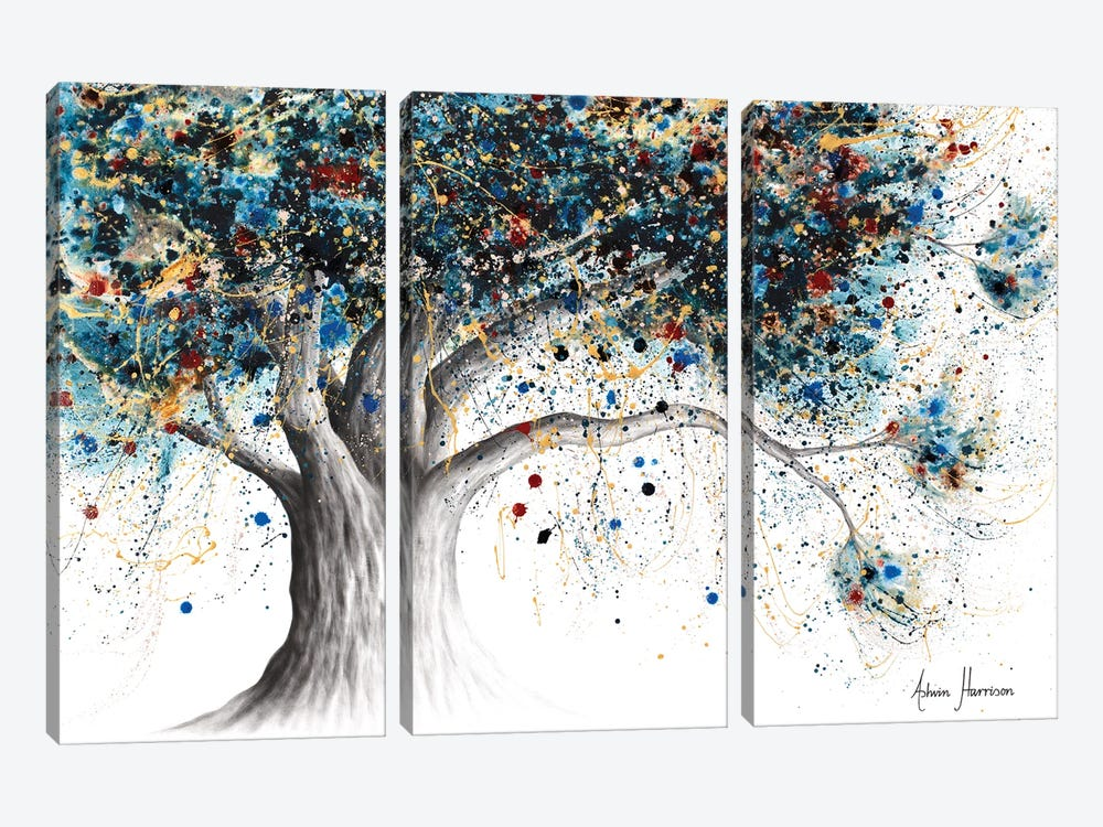 The Midnight Potion Tree by Ashvin Harrison 3-piece Canvas Print