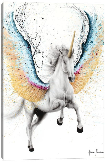 Whimsical Unicorn Canvas Art Print