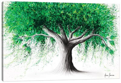 Emerald Park Tree Canvas Art Print