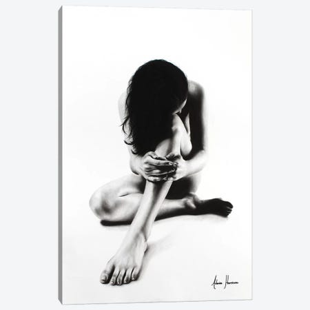 Nude Woman Charcoal Study 51 Canvas Print #VIN73} by Ashvin Harrison Canvas Wall Art