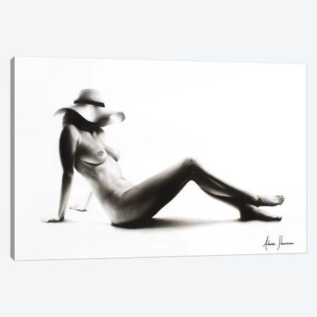 Nude Woman Charcoal Study 52 Canvas Print #VIN74} by Ashvin Harrison Canvas Art Print