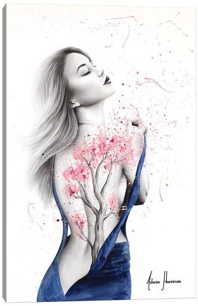 Her Cherry Blossom Canvas Art Print