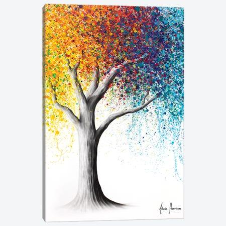 Rainbow Rollicking Tree Canvas Print #VIN755} by Ashvin Harrison Canvas Artwork