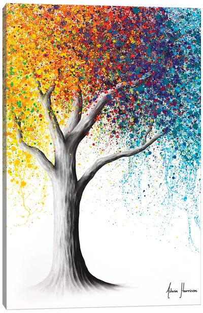 Rainbow Rollicking Tree Canvas Art Print
