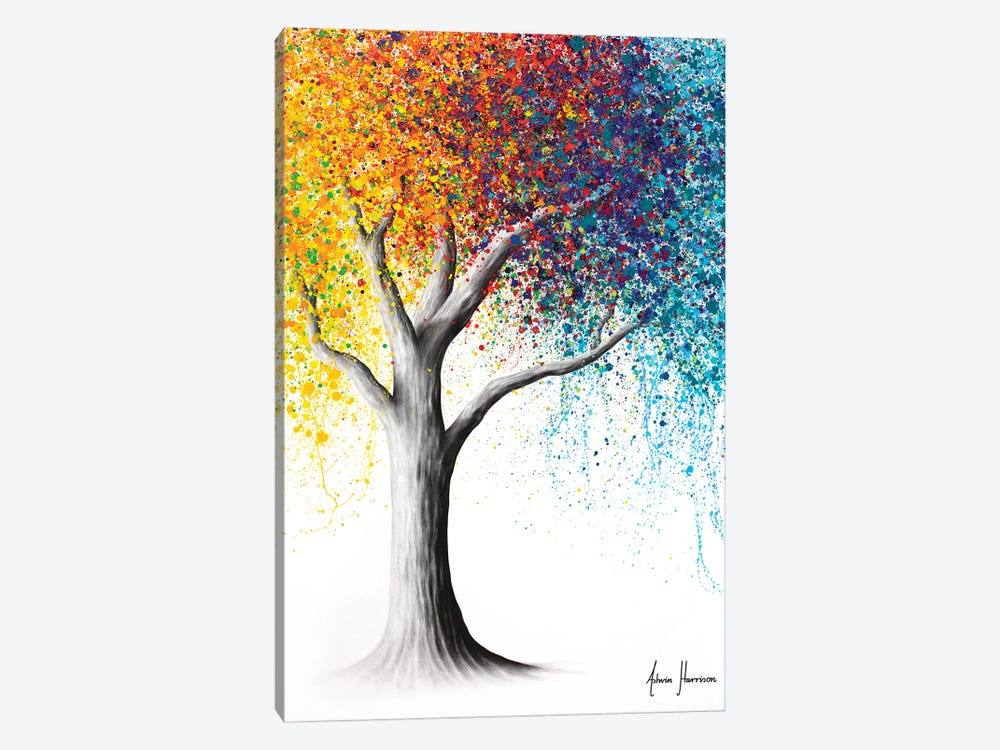 Rainbow Rollicking Tree by Ashvin Harrison 1-piece Canvas Art Print