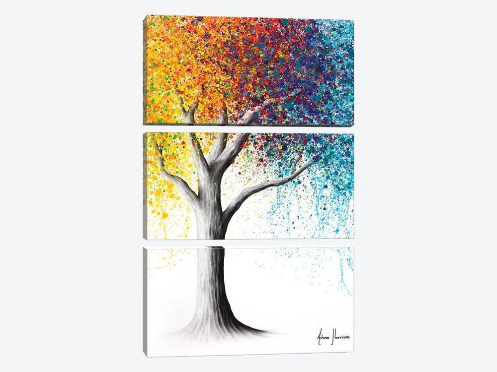 Rainbow Rollicking Tree by Ashvin Harrison 3-piece Canvas Art Print