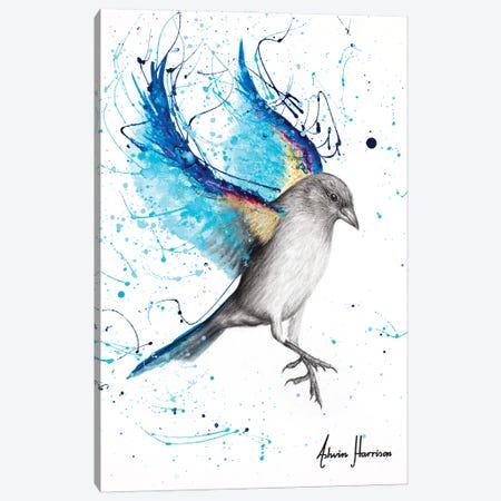 Sparkling Blue Bird Canvas Print #VIN766} by Ashvin Harrison Canvas Art Print