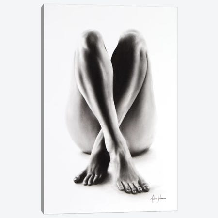 Nude Woman Charcoal Study 54 Canvas Print #VIN76} by Ashvin Harrison Canvas Art Print
