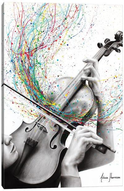 The Violin Solo Canvas Art Print