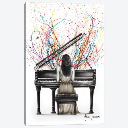 Grand Piano Solo Canvas Print #VIN785} by Ashvin Harrison Canvas Print
