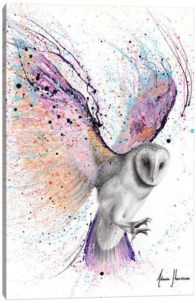 Luminous Luna Owl Canvas Art Print