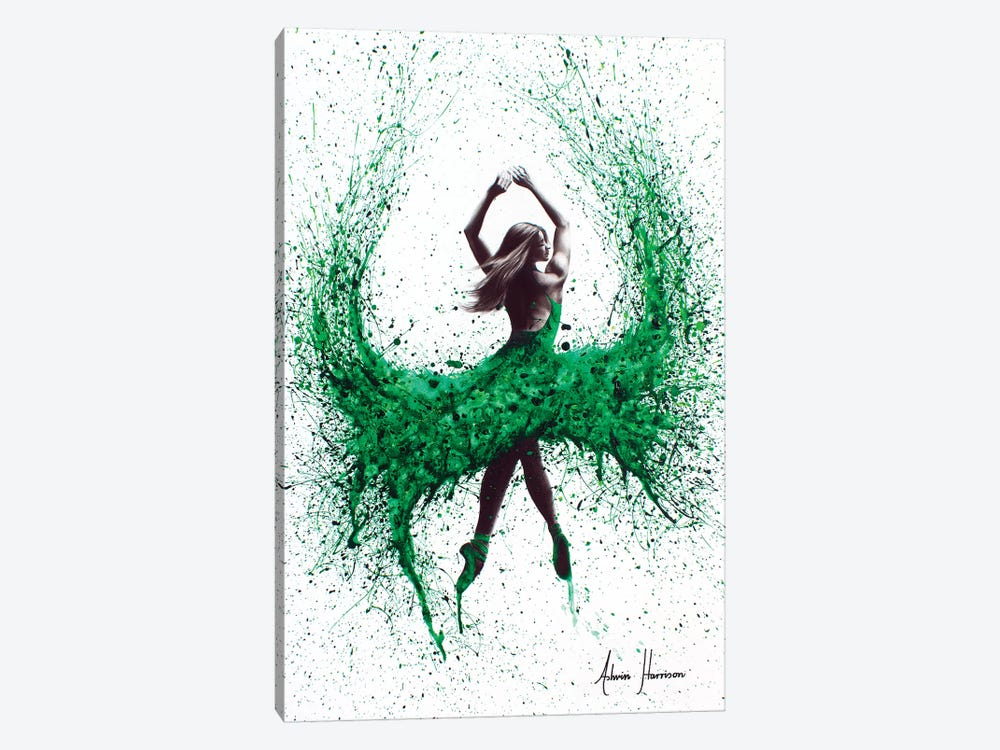 An Emerald Love 1-piece Canvas Art