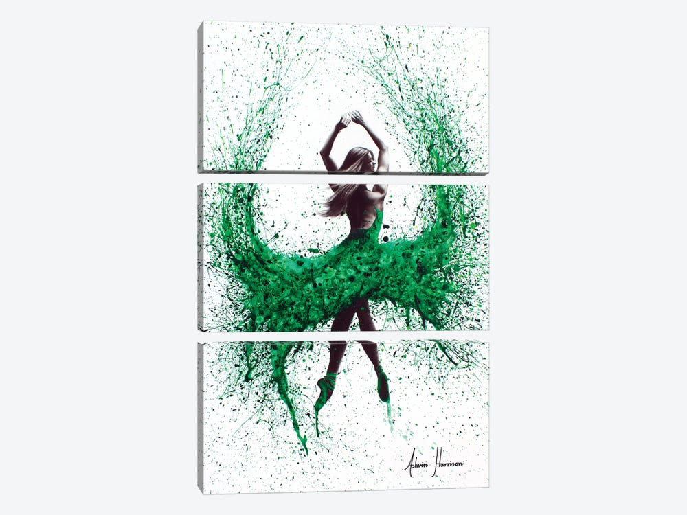 An Emerald Love by Ashvin Harrison 3-piece Canvas Wall Art
