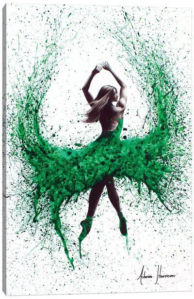 An Emerald Love Canvas Art Print