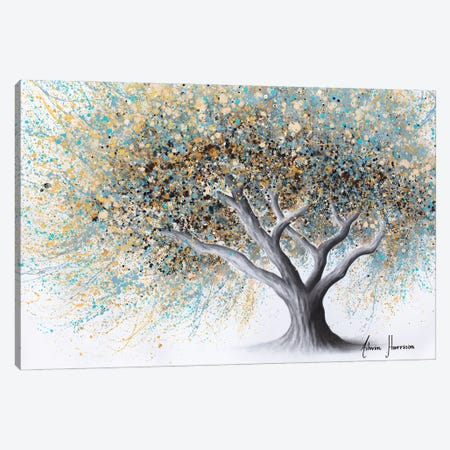 Spotted Teal Tree Canvas Print #VIN838} by Ashvin Harrison Canvas Artwork