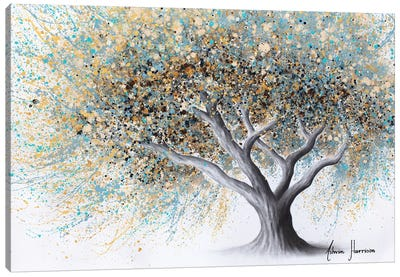 Spotted Teal Tree Canvas Art Print
