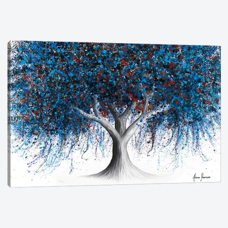 Sapphire Season Tree Canvas Print #VIN845} by Ashvin Harrison Canvas Art