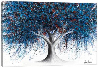 Sapphire Season Tree Canvas Art Print