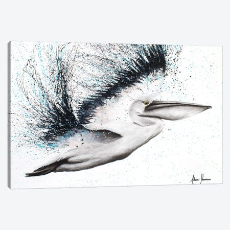 Pink Marble Pelican Canvas Print #VIN87} by Ashvin Harrison Canvas Wall Art