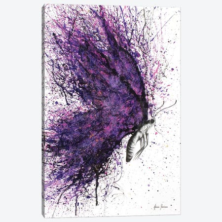 Purple Sky Butterfly Canvas Print #VIN91} by Ashvin Harrison Canvas Wall Art