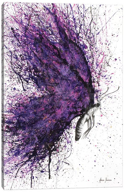Purple Sky Butterfly Canvas Art Print