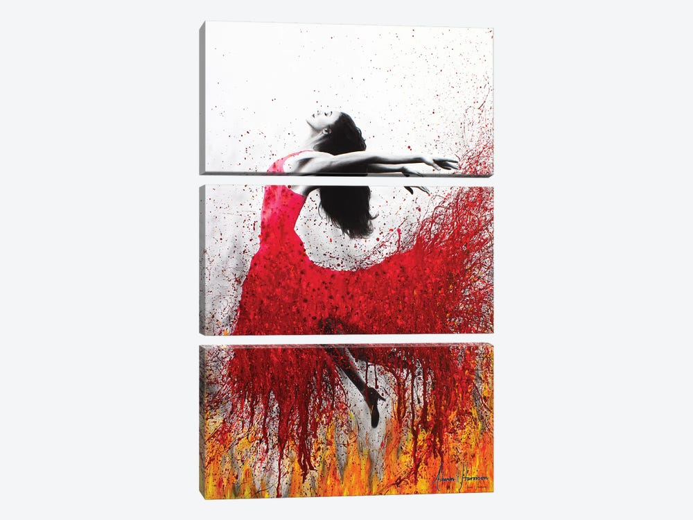 Rise Above The Flames 3-piece Canvas Artwork
