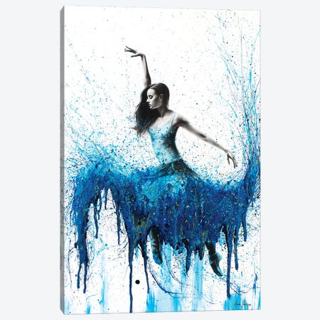 Rising Moonstone Dance Canvas Print #VIN95} by Ashvin Harrison Art Print