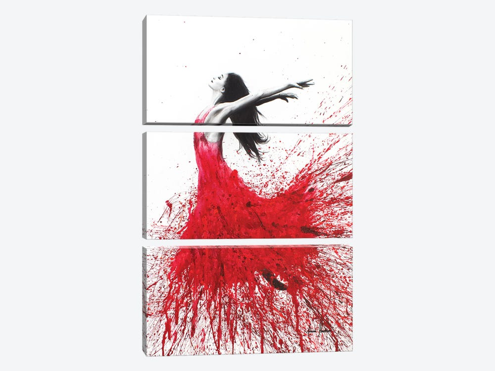Rose Dance by Ashvin Harrison 3-piece Canvas Wall Art