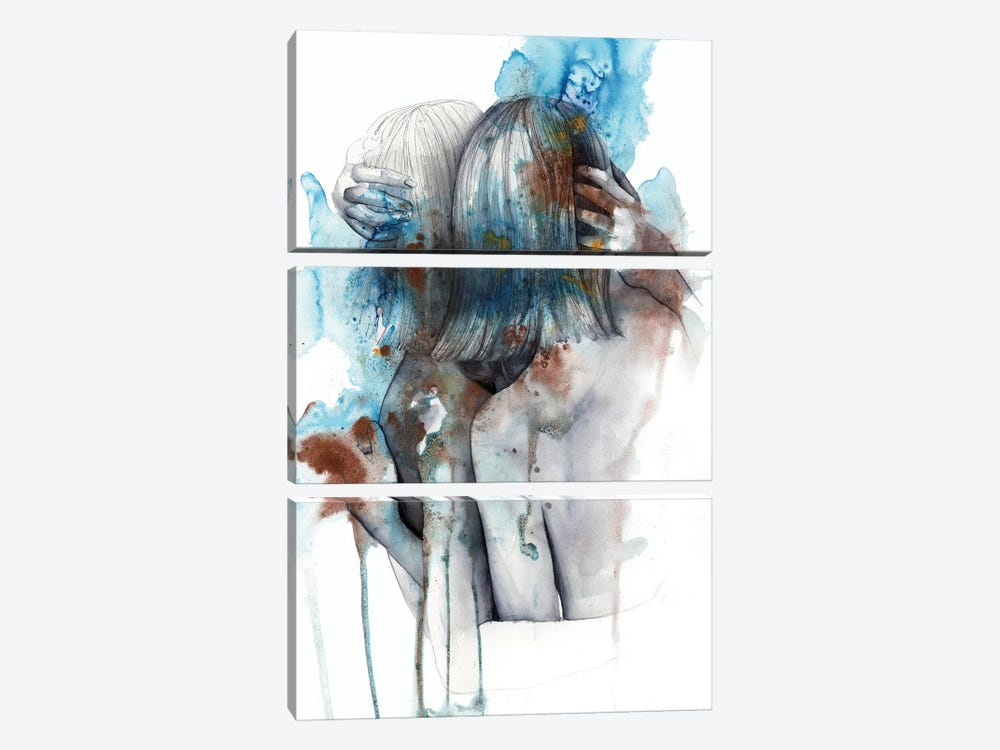 Isolophobia by Victoria Olt 3-piece Canvas Wall Art