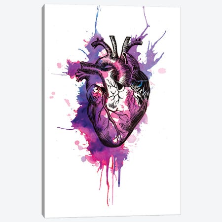Tell Tale Heart I Canvas Print #VIO22} by Victoria Olt Canvas Artwork