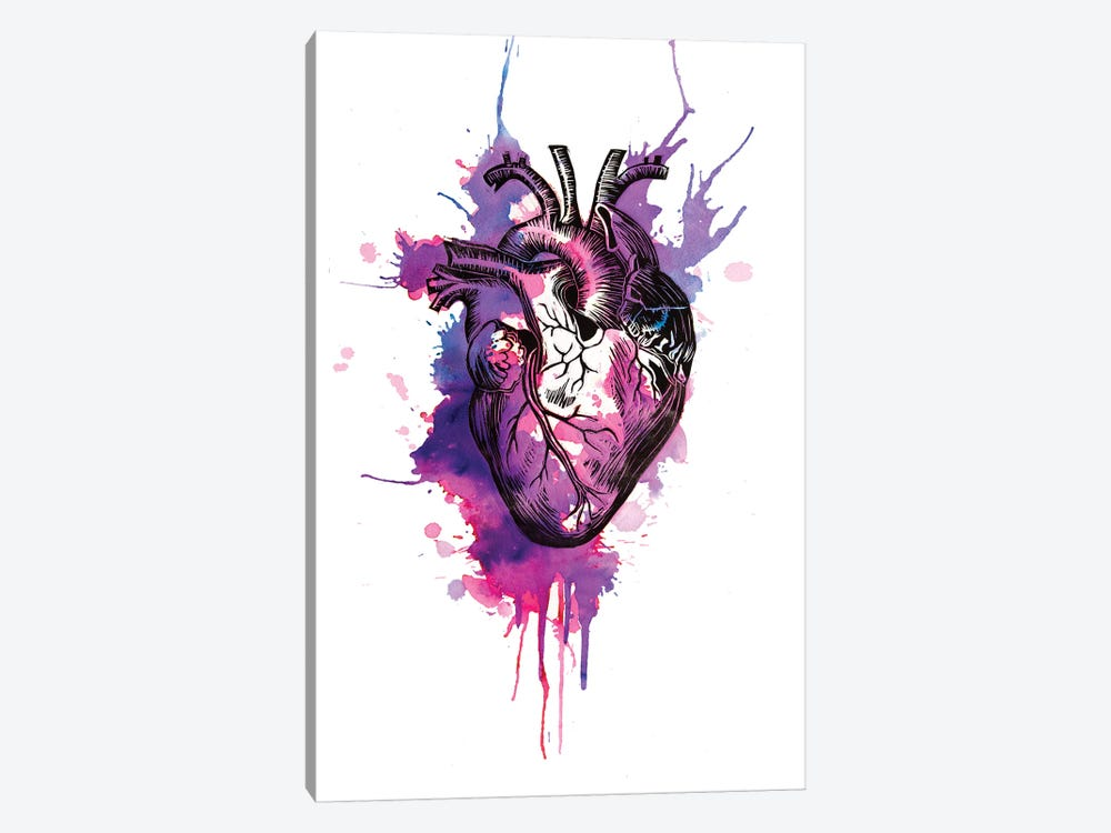 Tell Tale Heart I by Victoria Olt 1-piece Canvas Artwork