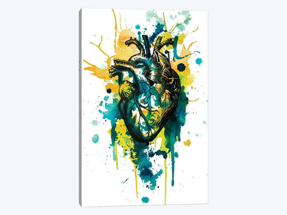 Tell Tale Heart VII by Victoria Olt 1-piece Canvas Artwork