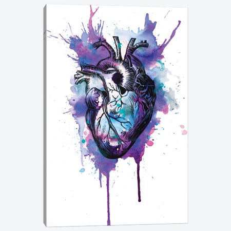 Tell Tale Heart IX Canvas Print #VIO25} by Victoria Olt Canvas Print