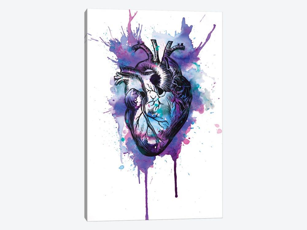 Tell Tale Heart IX by Victoria Olt 1-piece Canvas Print