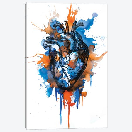 Tell Tale Heart X Canvas Print #VIO26} by Victoria Olt Art Print