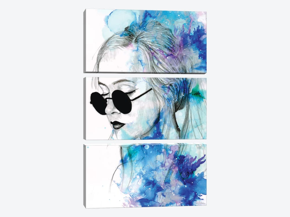 Untitled XII by Victoria Olt 3-piece Canvas Print