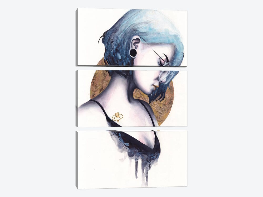 Static by Victoria Olt 3-piece Canvas Print