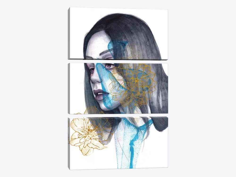 Sleepless Heart by Victoria Olt 3-piece Canvas Wall Art